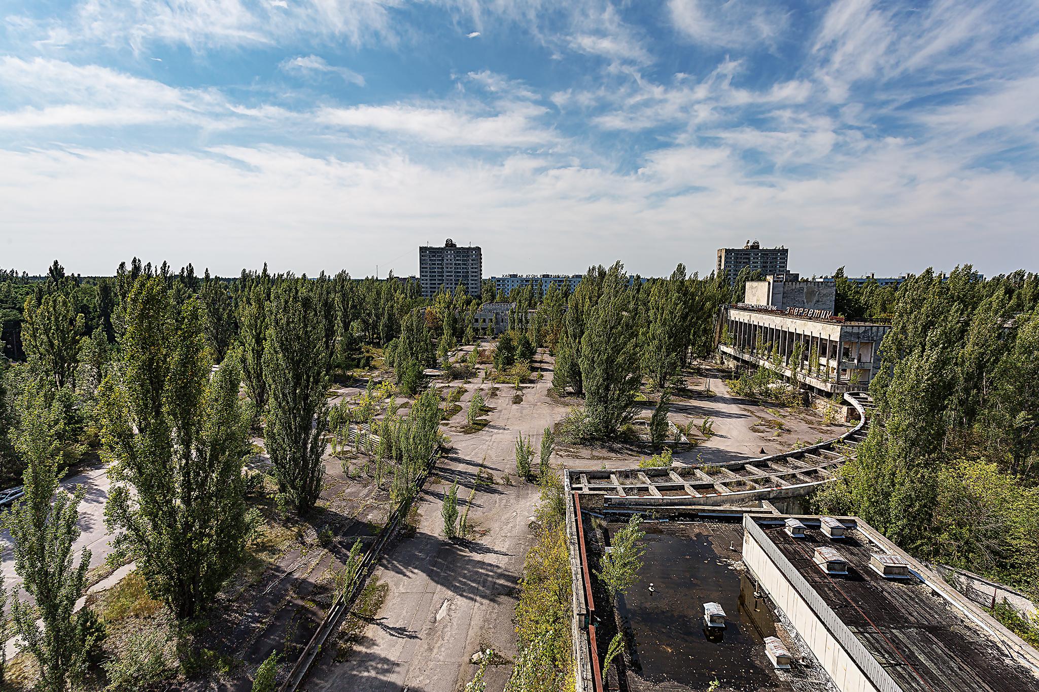 das Zentrum von Pripyat