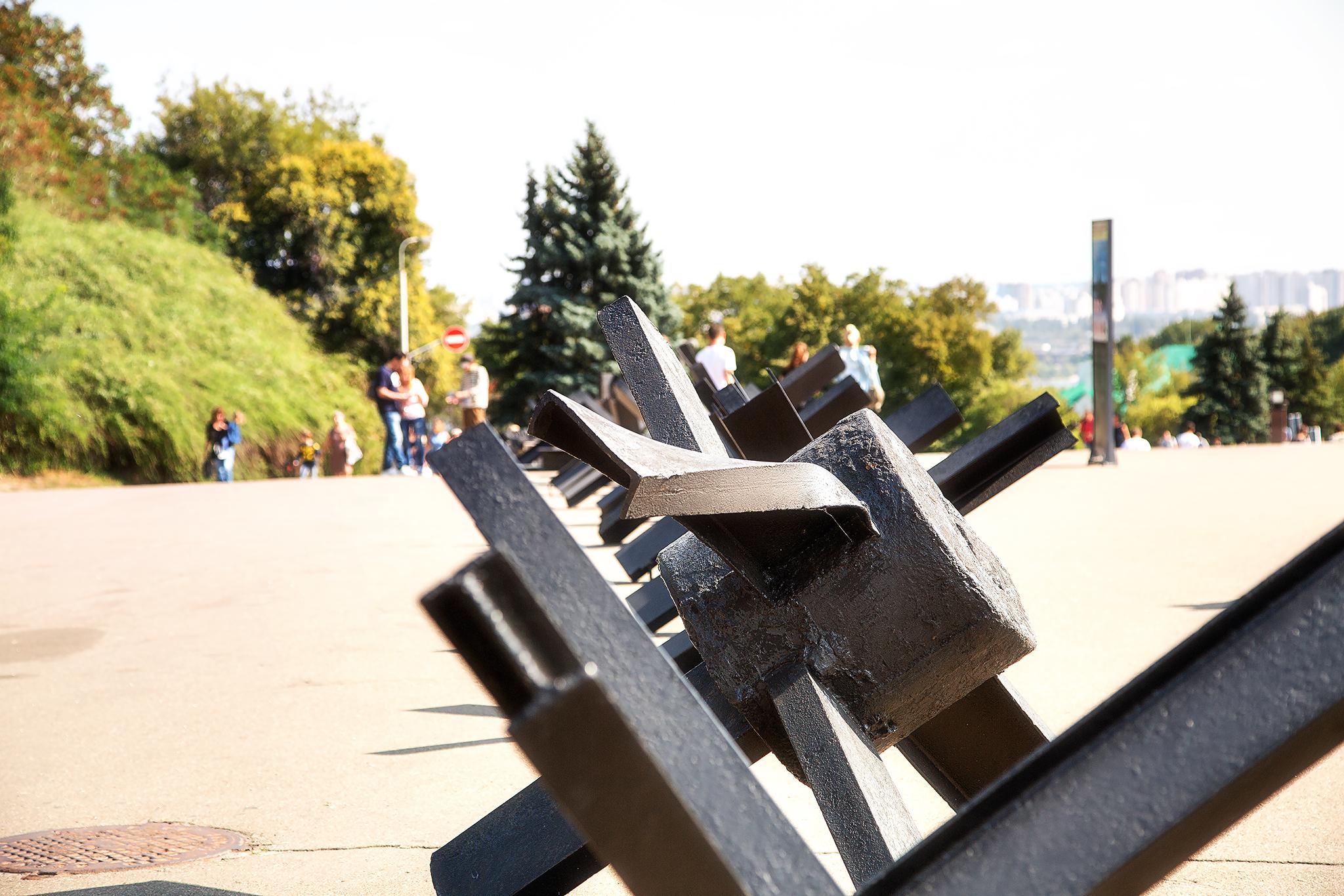 Panzersperre in Kiew