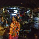 Ankunft auf dem Fischmarkt von Yangon