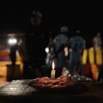 Kerze Fischmarkt in Yangon