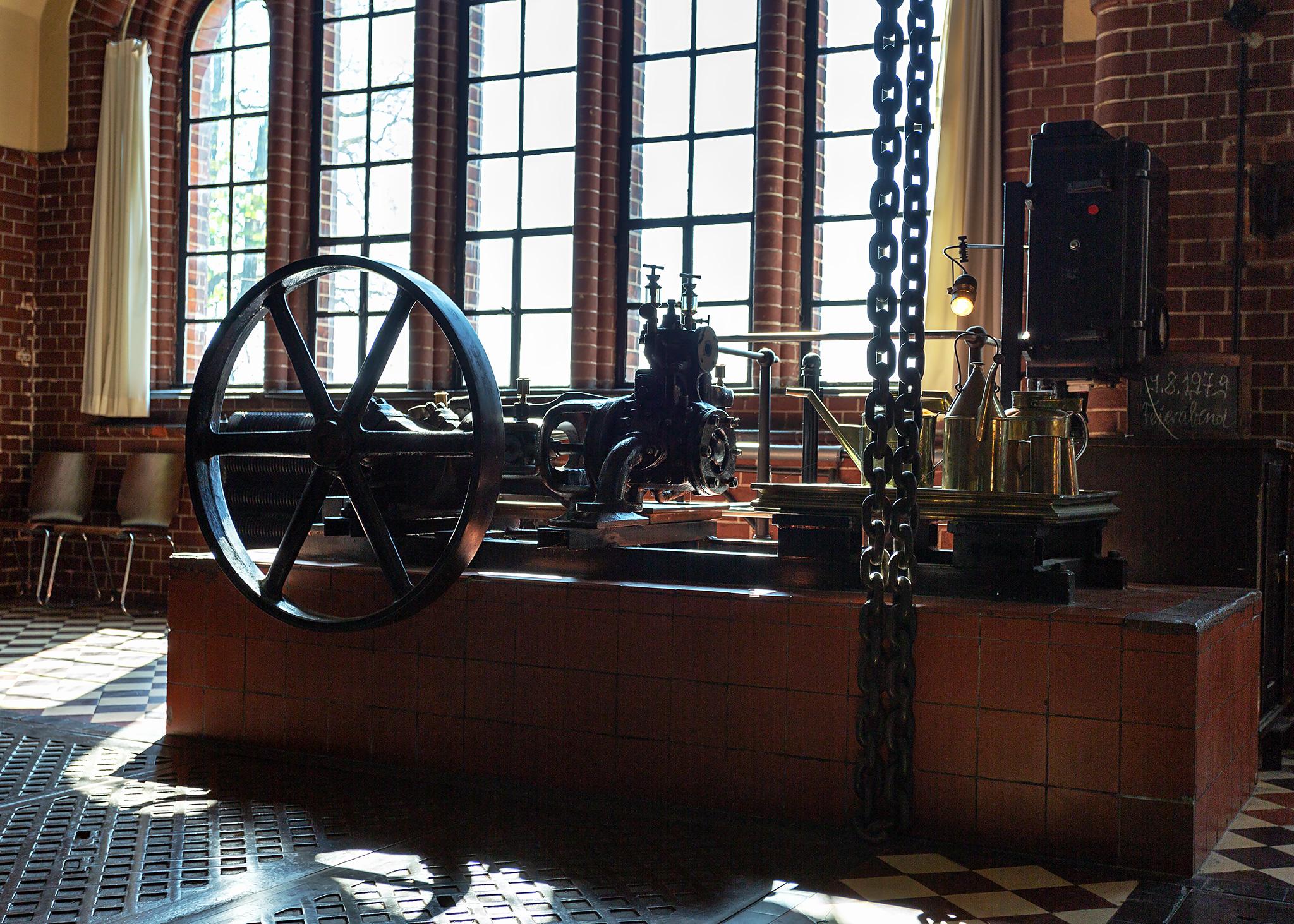 Maschinenhalle im Museum des Alten Wasserwerk Friedrichshagen