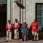 Wache vor dem Parlamentsgebäude in La Paz