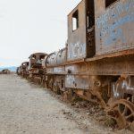 Eisenbahnfreidhof in der Nähe der Salar de Uyuni