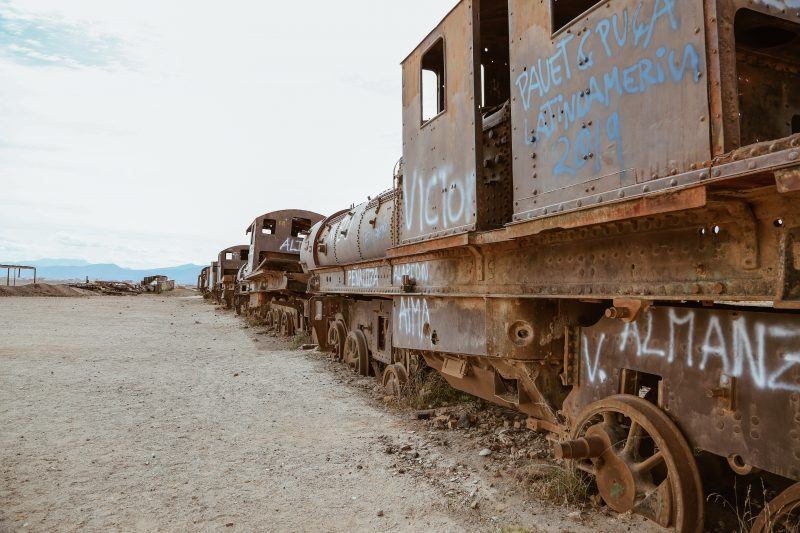 Eisenbahnfriedhof in der Nähe der Salar de Uyuni
