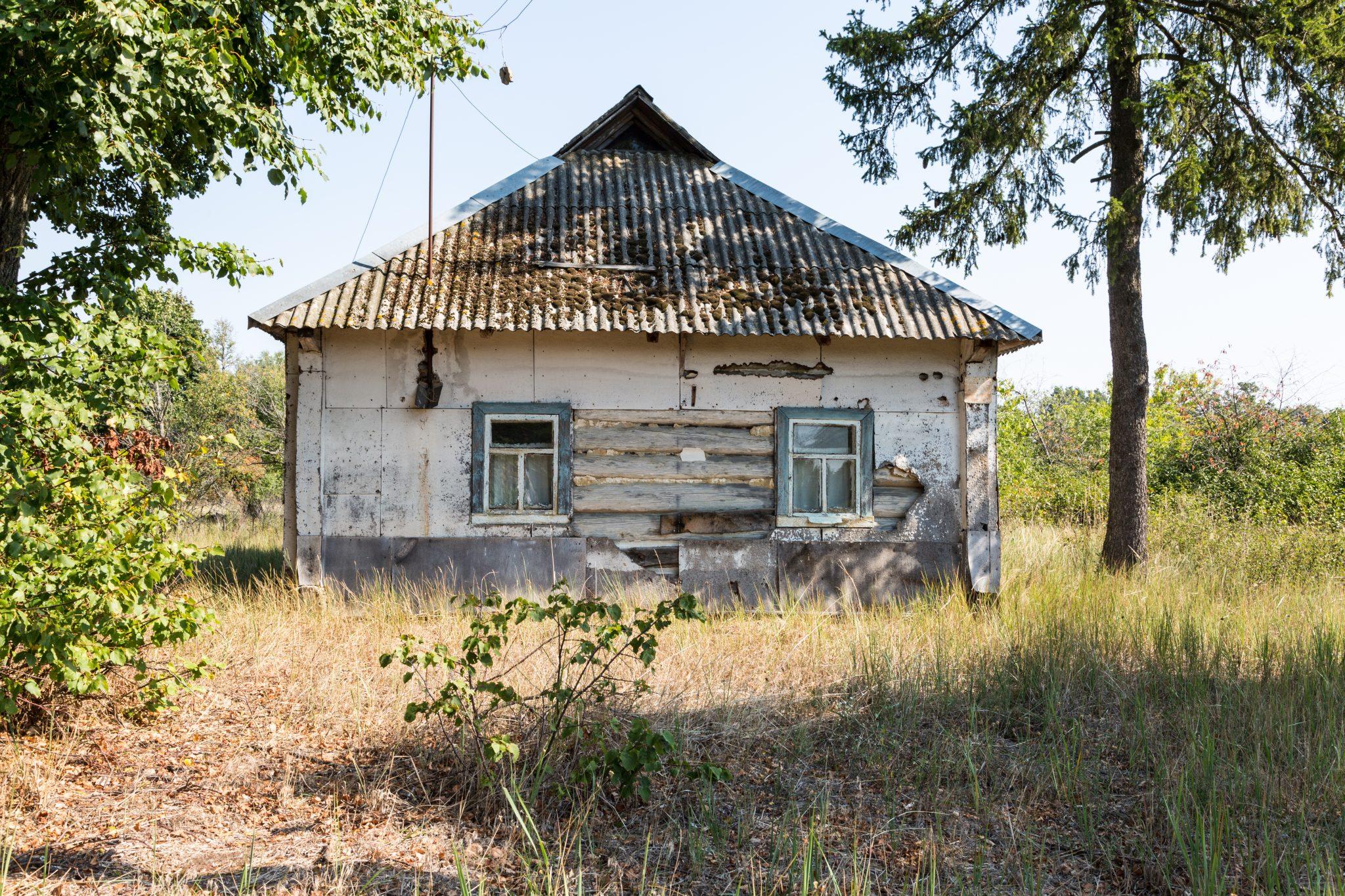 Altes Bauernhaus in der Sperrzone
