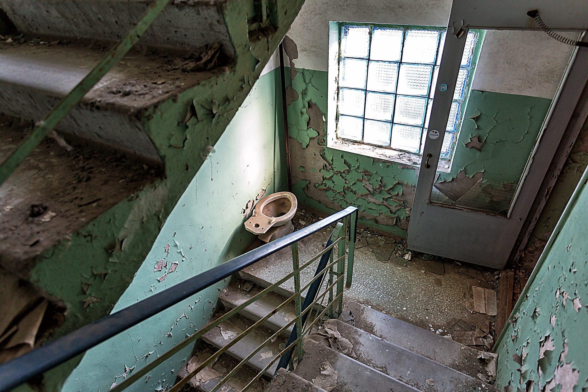 Verfallenes Treppenhaus in Pripyat