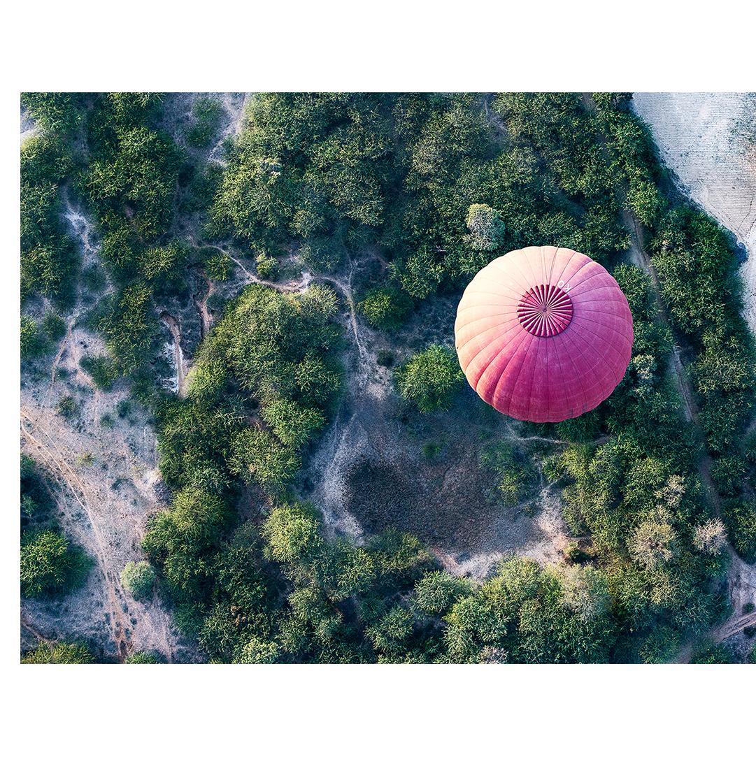 Flying Ballon over Bagan