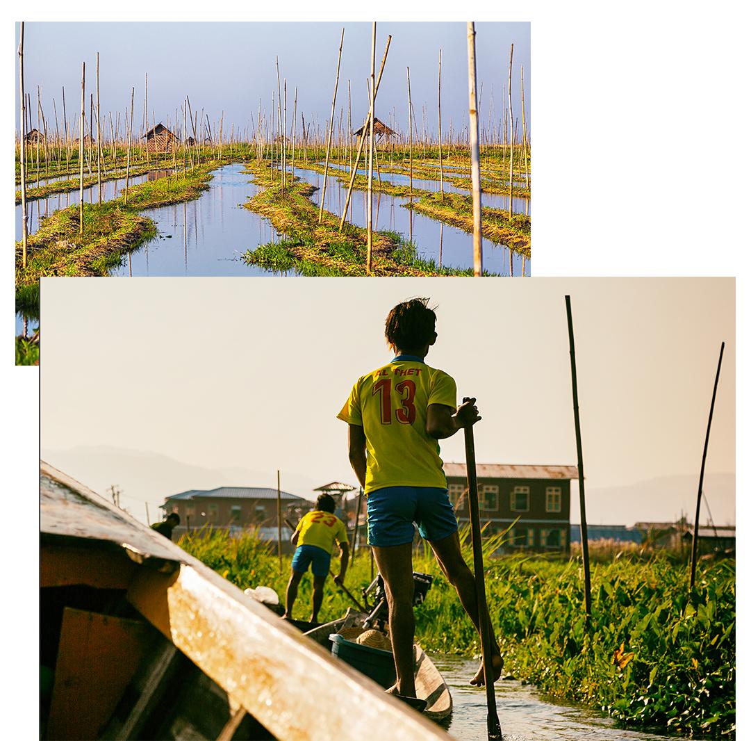Fishermen and floating villages